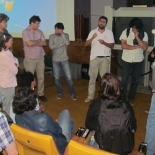 Representantes do diferentes movimentos dialogam ao final do evento. (Foto: ANA/arquivo)