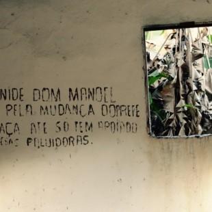 Mensagem na Comunidade Dom Manoel. (Foto: Caravana Barcarena)