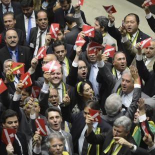 Deputados pró- impeachment na Câmara(Fabio Rodrigues Pozzebom/ABr)