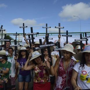 Protesto durante o III Encontro Nacional de Agroecologia (ENA) . (Foto: Valter Campanato)