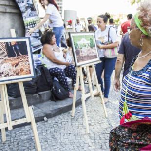 Exposição sobre o crime ambiental em Minas Gerais. Foto: Rosilene Miliotti / FASE