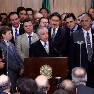Michel Temer e seus ministros. (Valter Campanato/ABr)