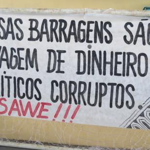 """""""Essas barragens são lavagem de dinheiro"""". (Foto: Matheus Ortteloo)"""