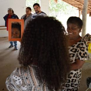 Quilombolas participaram da dinâmica do 'Espelho de Valorização'. Foto: Andrés Pasquis/Gias