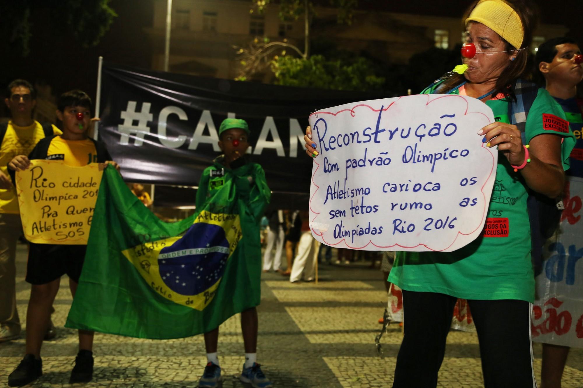 Marcha dos Atletas denuncia violações ao esporte no RJ