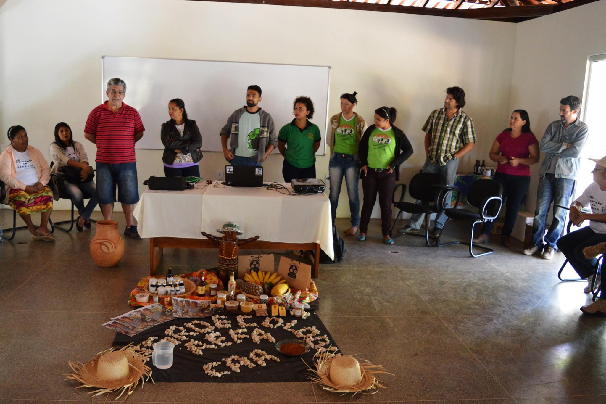 O intercâmbio aconteceu na Área de Experimentação e Formação em Agroecologia do Centro de Agricultura Alternativa.
