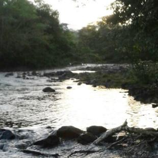 Margem do Rio Braço Leste, na comunidade Novo Horizonte