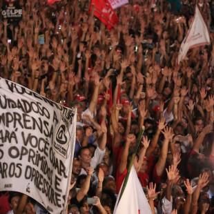 18/03/2016- São Paulo- Sp, Brasil- Ato em prol do governo Dilma, ex-presidente Lula e ao PT, na avenida Paulista. Foto: Roberto Parizotti/ CUT