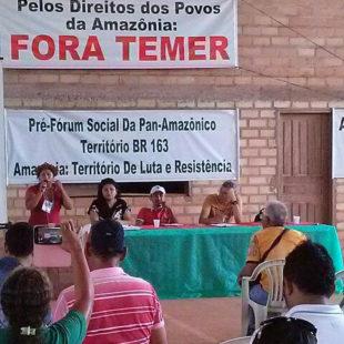 Participantes dialogaram sobre o avanço do capital na Amazônia e as ameaças à biodiversidade e aos habitantes