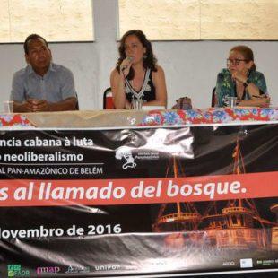Impactos da Chevron no Equador foram debatidos no evento. (Foto: Fundo Dema)