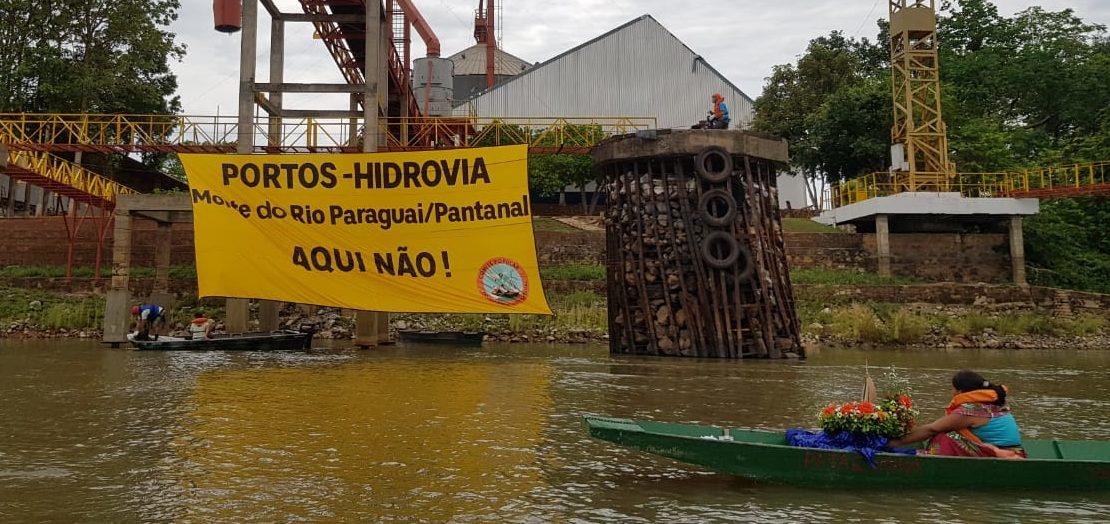 Ato contra hidrovia marca dia do Rio Paraguai/Pantanal